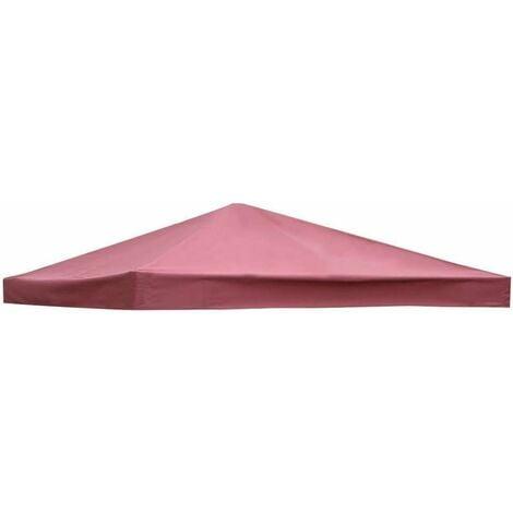 COSTWAY Toile de Rechange pour Pavillon Toile de Toit pour Tente Canopée pour Tonnelles 300 x 300 cm Vin Rouge