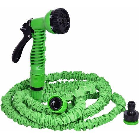 COSTWAY Tuyau d'eau de tuyau d'arrosage flexible extensible tuyau flexible pantalon magique 7,5M