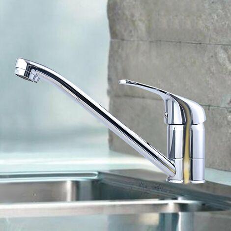 COSTWAY Wasserarmatur Kuechenarmatur Armatur Waschtischarmatur Wasserhahn Einhebelmischer Spueltischarmatur Einhandmischer verchromt