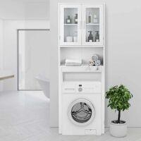 COSTWAY WC Toilette Ueberbauschrank Badezimmerregal Badschrank Hochschrank Badregal Badmoebel weiss
