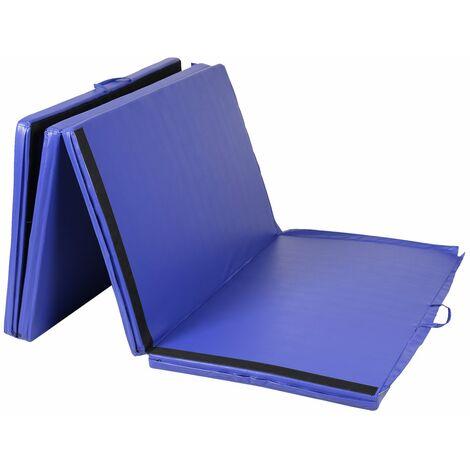 COSTWAY Weichbodenmatte Gymnastikmatte Yogamatte Turnmatte Klappmatte Fitnessmatte klappbar tragbar 300 x 120 x 5 cm