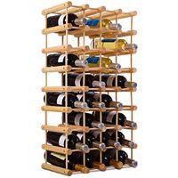 COSTWAY Weinregal aus Holz Flaschenregal Weinstaender Holzregal Weinschrank Flaschenstaender fuer 40 Flaschen