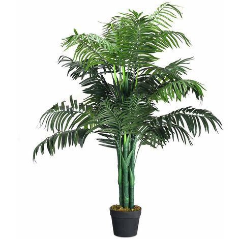 COSTWAY Zimmerpalme Palme Kunstpflanze Kunstbaum ...