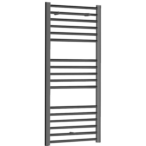 Cosy 500mm x 1200mm Anthracite Flat Heated Towel Rail