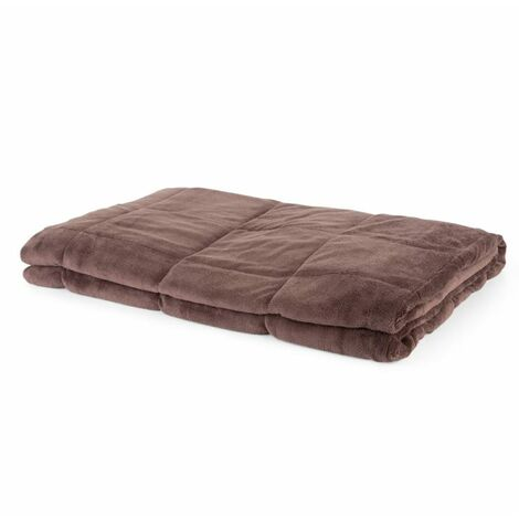 """main image of """"Cosycalm Weighted Blanket Microplush Synthetic Beads 150 x 200 cm 11 kg brown"""""""