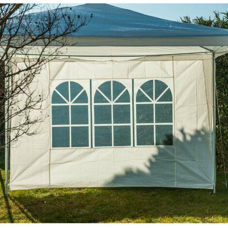 Côté de tente fenêtre blanc 2.9 x1.9m - Blanc