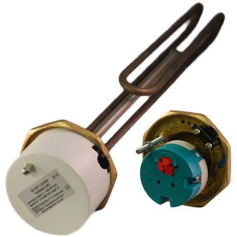 "Cotherm - 1"" 3/4"" 3kW Immersion Heater 14"" for Unvented Cylinders"