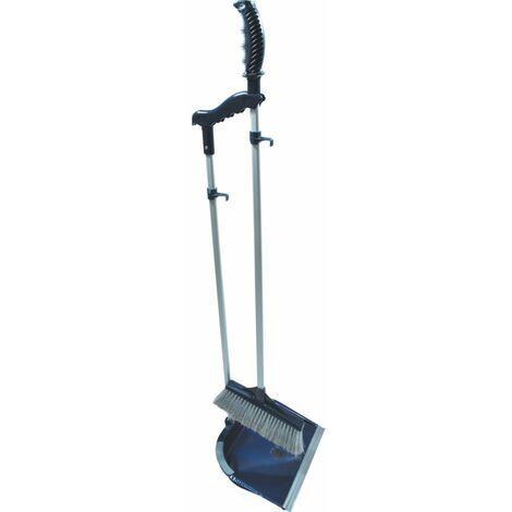 "main image of ""Cotswold Aluminium Long Handled Dustpan & Brush Set"""