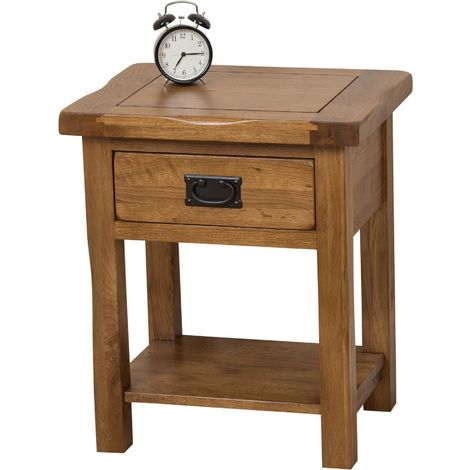 Cotswold Rustic Solid Oak Lamp Table
