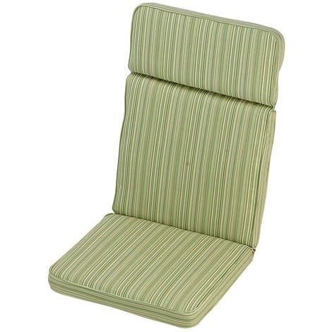 Cotswold Stripe High Recliner Cushion Outdoor Garden Furniture Cushion