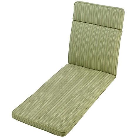 Cotswold Stripe Sun Lounger Cushion Outdoor Garden Furniture Cushion