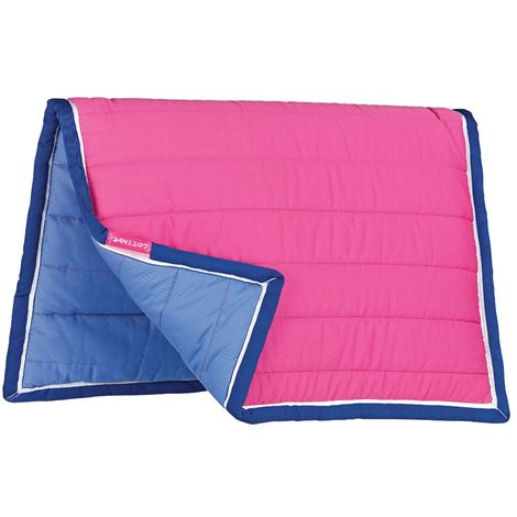 Cottage Craft Reversible Cushion Saddle Pad (Full) (Pink/Blue)