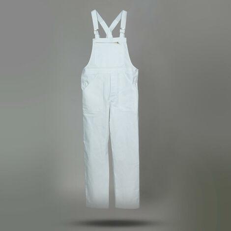 Cotte à Bretelles de travail Blanc du 0 au 6- DULARY | XXXL