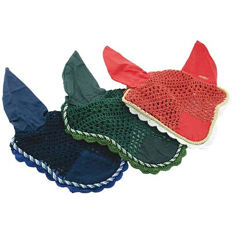 Cotton anti-mosque cap with reinforcements and coloured cord Derby
