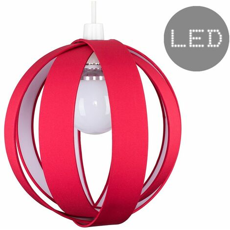 Cotton Cocoon Globe Ceiling Pendant Light Shade + 6W BC B22 LED Bulb