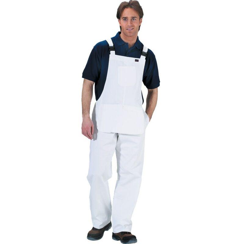 "Image of Beeswift Click Original Workwear CDBBW Painters Bib & Brace White 32"""