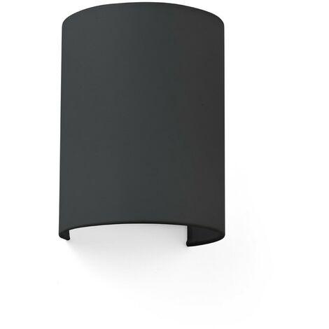 COTTON NEGRA VER. ROUND 200x150x120 1xE27 Aplique de pared - Negro