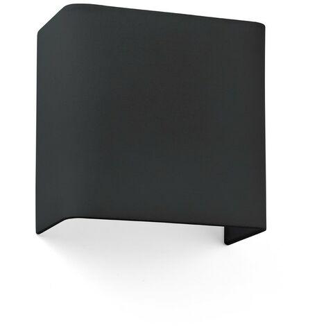 COTTON NEGRO HOR. SQ. 200x205x108 1xE27 Aplique de pared - Negro