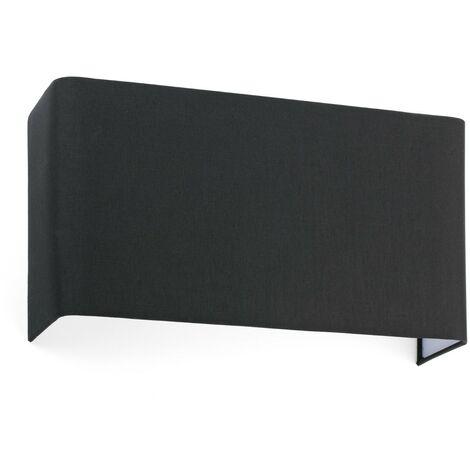 COTTON NEGRO HOR. SQ. 375x200x105 2xE27 Aplique de pared - Negro