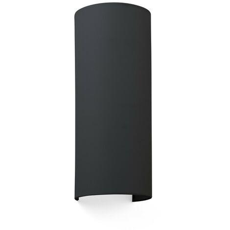 COTTON NEGRO VER. ROUND 370x148x125 2xE27 Aplique de pared - Negro