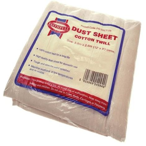 Cotton Twill Dust Sheets