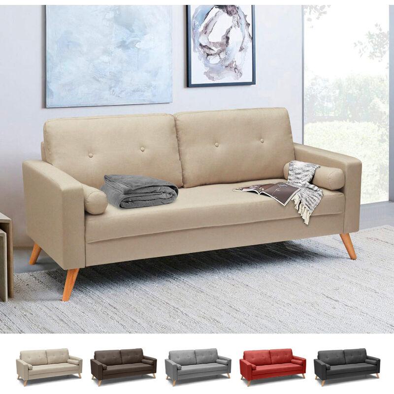 Couch Sofa Modern Design Skandinavisch Stil Stoff 3 Sitzer Wohnzimmer Küche Acquamarina