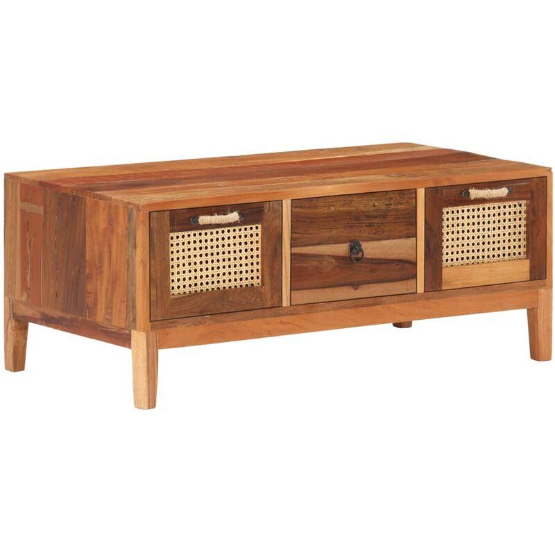 Vidaxl - Couchtisch 100×50×40 cm Recyceltes Massivholz
