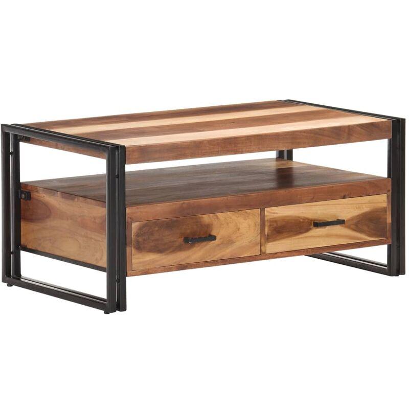 Vidaxl - Couchtisch 100x55x45 cm Akazie Massivholz mit Palisander-Finish
