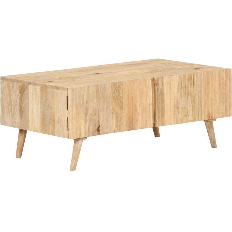 Vidaxl - Couchtisch 100x58x40 cm Massivholz Mango