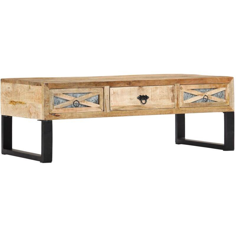 Vidaxl - Couchtisch 110 x 50 x 38 cm Massivholz Mango