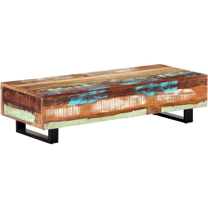 Vidaxl - Couchtisch 120×50×30 cm Recyceltes Massivholz und Stahl