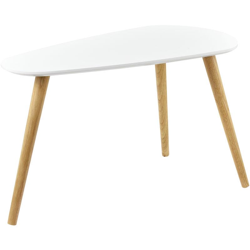 ® Couchtisch 2er Set Beistelltisch Beistell Tisch Wohnzimmer weiß en.casa