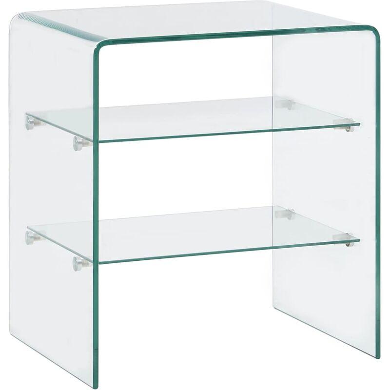 Couchtisch 50 x 40 x 56 cm Hartglas - ZQYRLAR