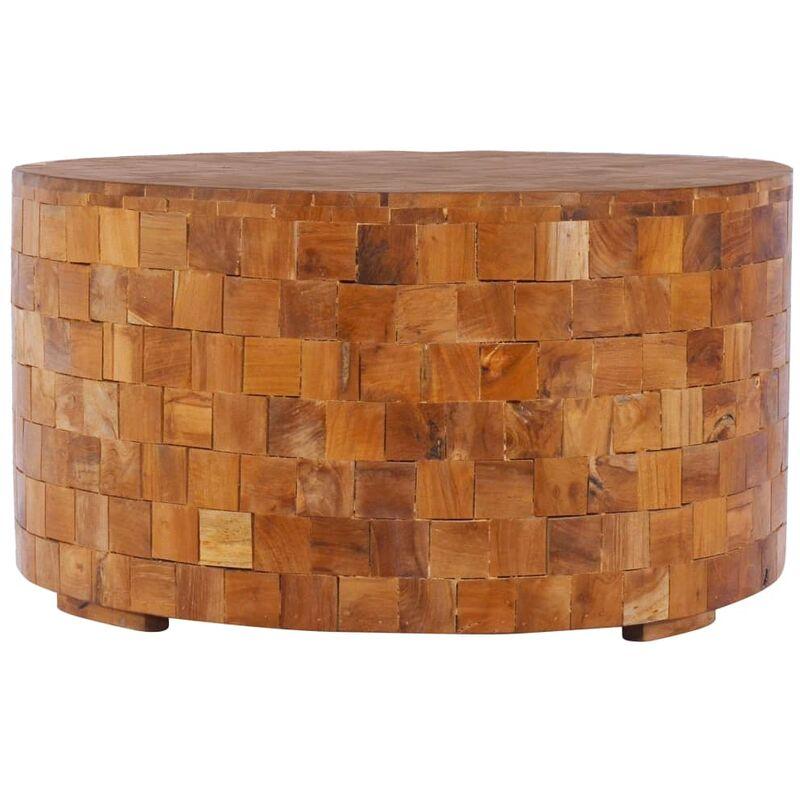 Vidaxl - Couchtisch 60x60x35 cm Teak Massivholz