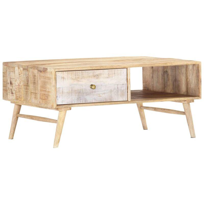 Vidaxl - Couchtisch 88x60x40 cm Massivholz Mango