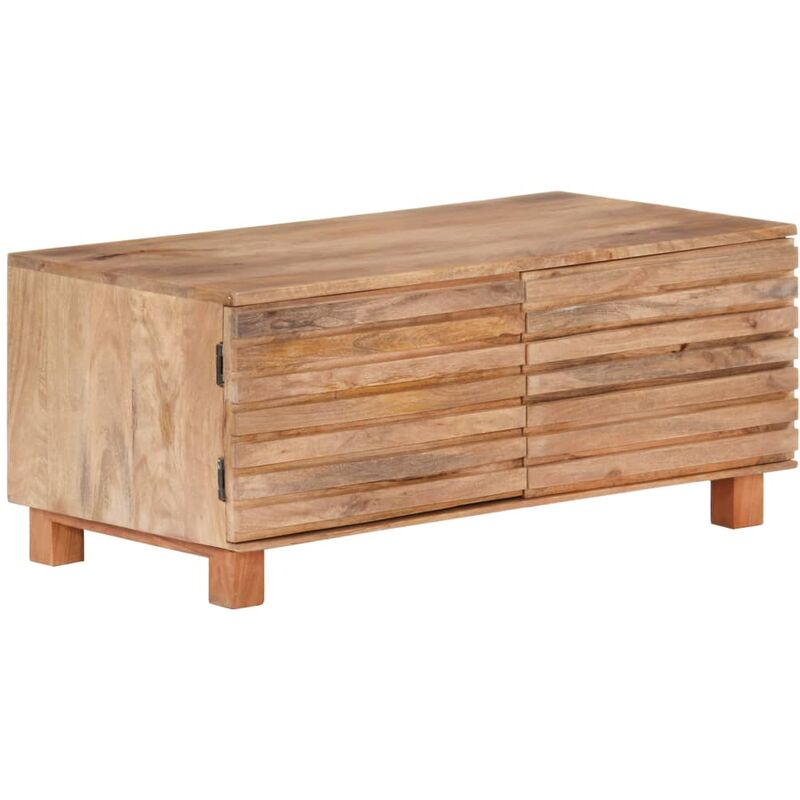 Vidaxl - Couchtisch 90x50x40cm Massivholz Mango