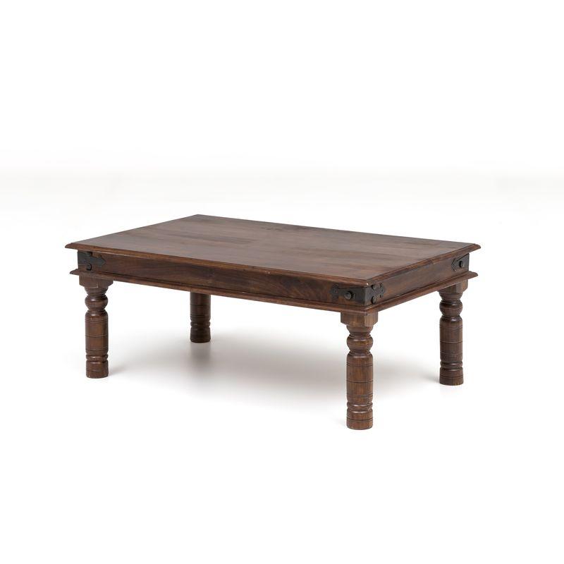 Index-living - Couchtisch Akazie Holz massiv Beistelltisch Wohnzimmer Tisch Oriental braun A00000306