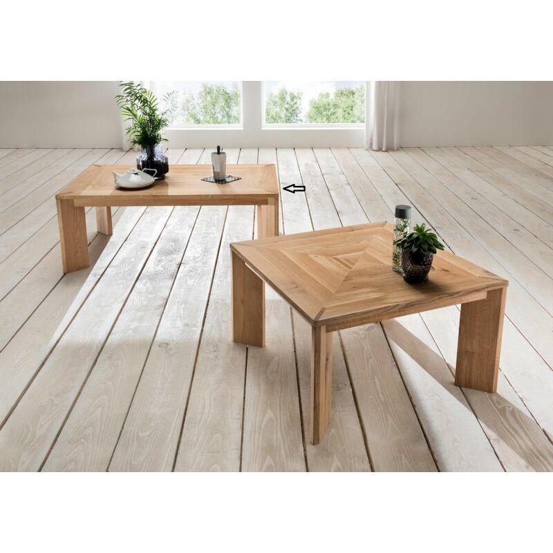 Fun Möbel - Couchtisch Beistelltisch REIMS Wildeiche Massiv geölt 115x75 cm