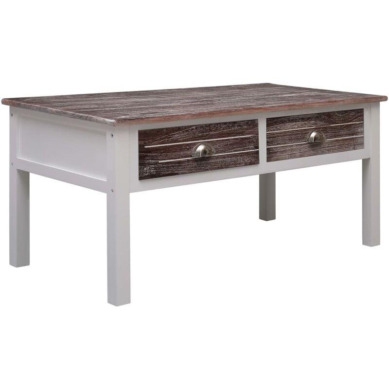 Couchtisch 100x50x45cm Holz Braun - VIDAXL