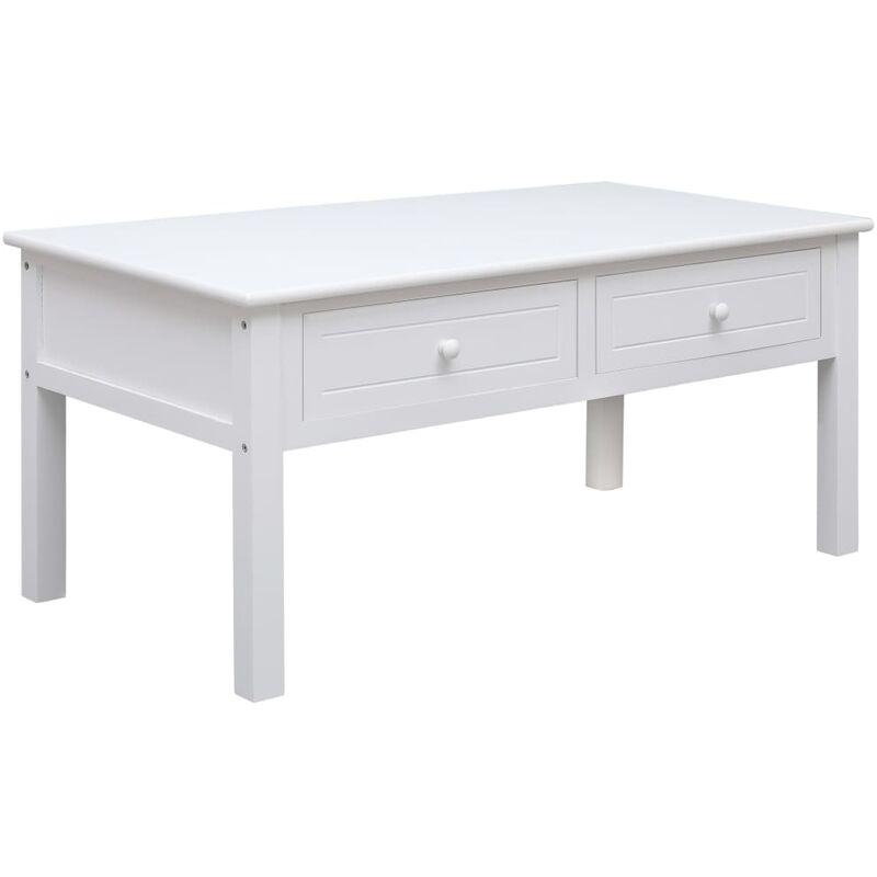 Vidaxl - Couchtisch 100x50x45cm Holz Weiß