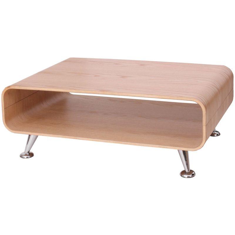 Couchtisch HHG-162 XXL, Tisch Loungetisch Club Tisch, 33x90x60cm ~ Eiche natur