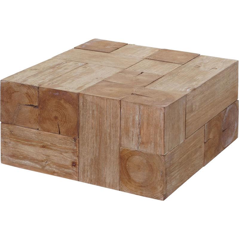 Couchtisch 769c, Wohnzimmertisch, Tanne Holz rustikal massiv 30x60x60cm - HHG