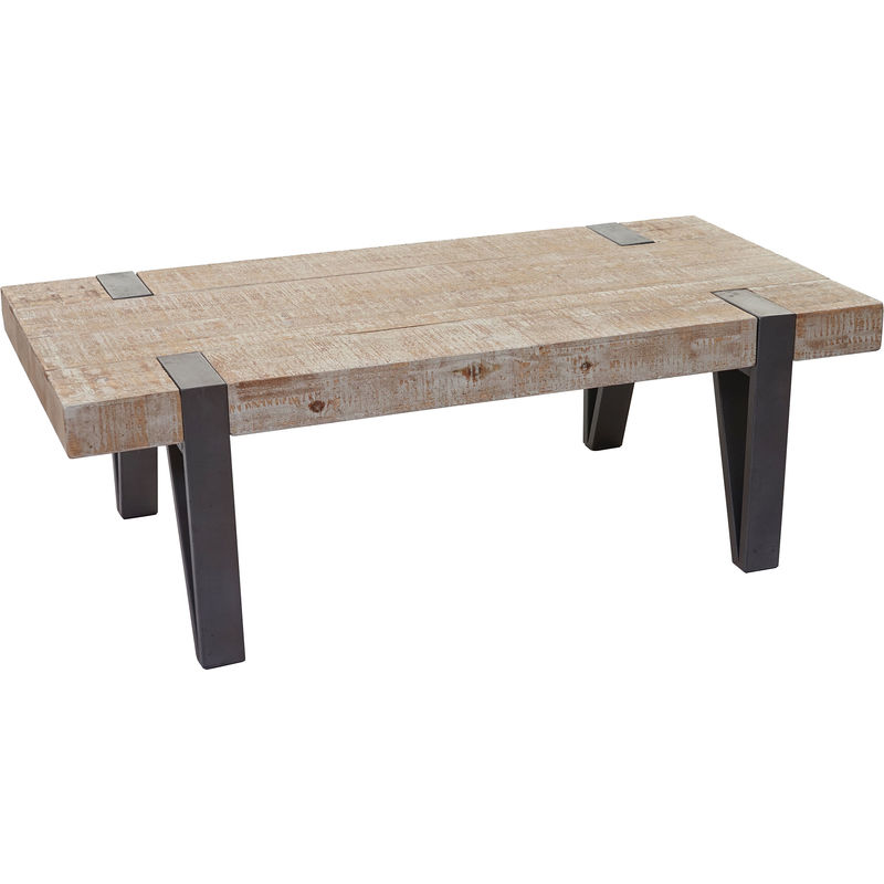 Couchtisch HHG-891b, Wohnzimmertisch, Tanne Holz rustikal massiv 40x120x60cm