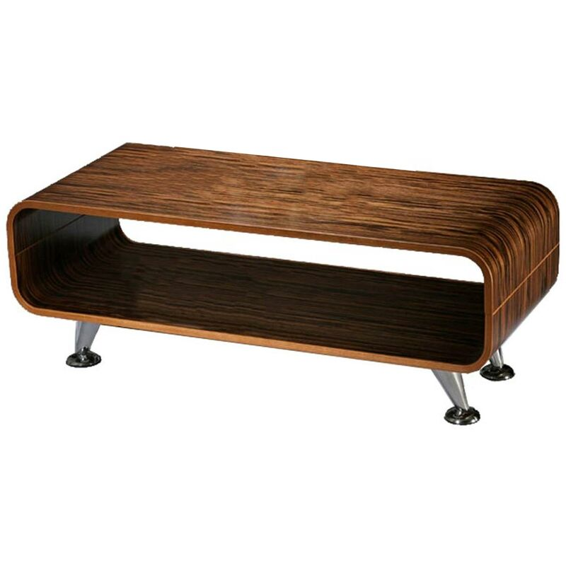 HHG - Couchtisch Loungetisch Club Tisch Fano, 34x90x39 cm ~ Zebra dunkel, breite Streifen