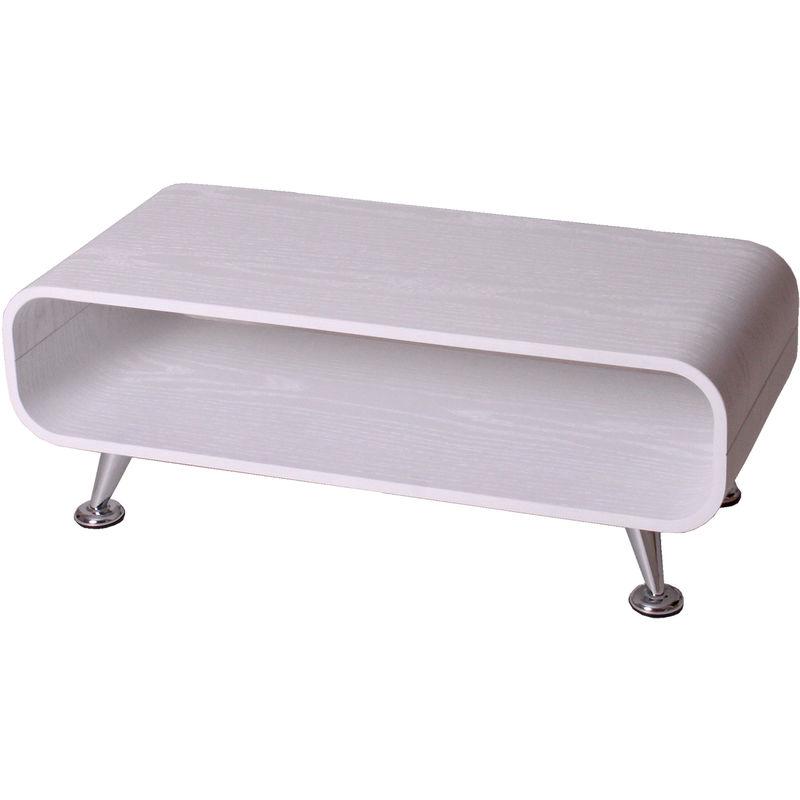Couchtisch HHG-158, Loungetisch Club Tisch, 34x90x39cm ~ weiß