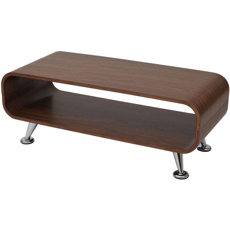 Couchtisch Loungetisch Fano Tisch Perugia, 34x90x39cm ~ Walnuss natur