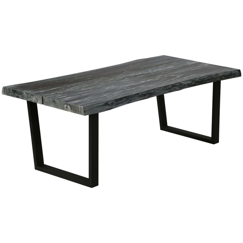 Couchtisch Mindi-Holz Massiv 102 x 56 x 41 cm Grau - VIDAXL