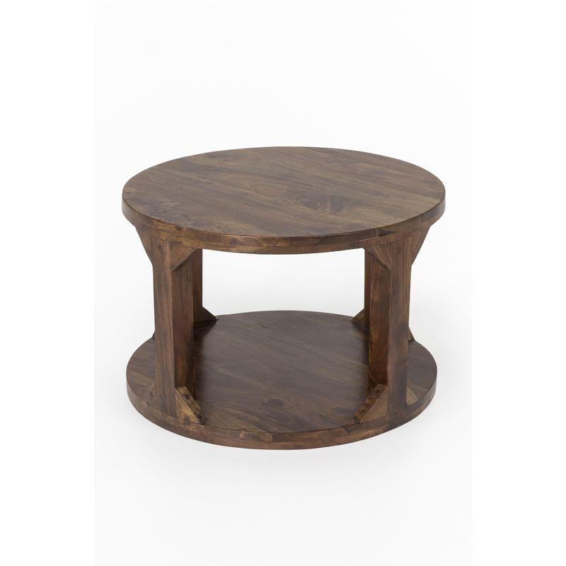 Index-living - Couchtisch Massivholz Akazie 60cm Wohnzimmertisch Holz Tisch India Beistelltisch A00000335