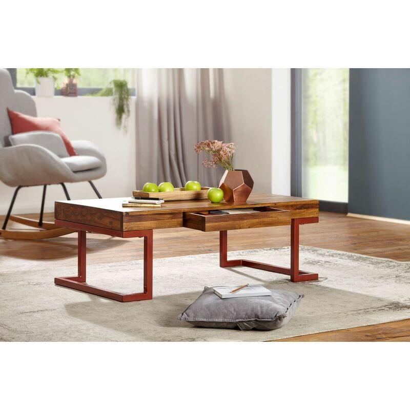 Fun Möbel - Couchtisch Massivholztisch MADAN 115x60x40 cm Holz Sheesham Industrial