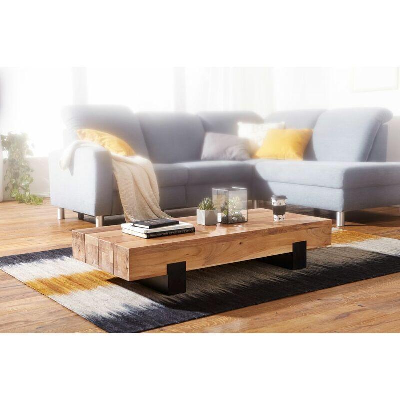 Fun Möbel - Couchtisch Massivholztisch MANA 130x59x25 cm Holz Akazie